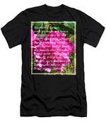 Most Powerful Prayer With Peony Bush Men's T-Shirt (Athletic Fit)