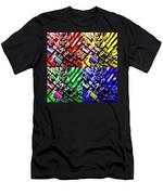 Neo Pop Art Urbanscape New York Sky View Men's T-Shirt (Athletic Fit)