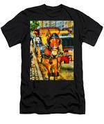 New York Horse And Carriage Men's T-Shirt (Athletic Fit)