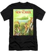 Green New York Men's T-Shirt (Athletic Fit)