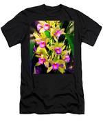 Orchid Flower Bunch Men's T-Shirt (Athletic Fit)