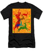 Pan Leads The Dance Men's T-Shirt (Athletic Fit)