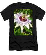 Passiflora Close Up With Garden Background  Men's T-Shirt (Athletic Fit)