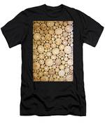 Pattern Of The Wood Pieces Men's T-Shirt (Athletic Fit)