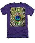 Peacock Feather - Stone Rock'd Art By Sharon Cummings Men's T-Shirt (Athletic Fit)