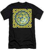 Peacock Feathers Under Polyhedron Glass 3 Men's T-Shirt (Athletic Fit)