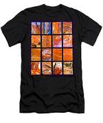 Petra Rocks Photo Assemblage In Petra-jordan   Men's T-Shirt (Athletic Fit)