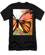 Pink Butterfly Men's T-Shirt (Athletic Fit)