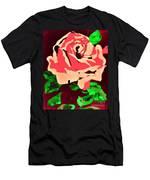 Pink Rose Impression Men's T-Shirt (Athletic Fit)