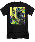 Psychedelic Owl Men's T-Shirt (Athletic Fit)