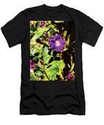 Purple Morning Glory Men's T-Shirt (Athletic Fit)