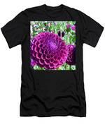 Purple Perfection Dahlia Flower Men's T-Shirt (Athletic Fit)