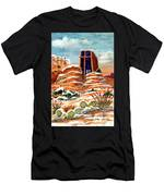 Quiet Snowfall  Sedona  Arizona Men's T-Shirt (Athletic Fit)