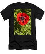 Red Poppy And Bee Men's T-Shirt (Athletic Fit)