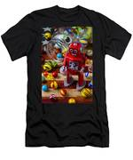 Red Robot And Marbles Men's T-Shirt (Athletic Fit)