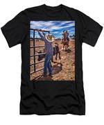 Rodeo Gate Keeper Men's T-Shirt (Athletic Fit)