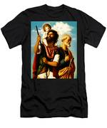 Saint Christopher With Saint Peter Men's T-Shirt (Athletic Fit)