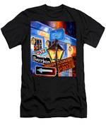 Signs Of Bourbon Street Men's T-Shirt (Athletic Fit)