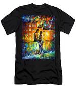 Silhouettes - Palette Knife Oil Painting On Canvas By Leonid Afremov Men's T-Shirt (Athletic Fit)