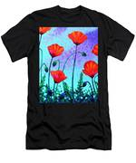 Sky Poppies Men's T-Shirt (Athletic Fit)