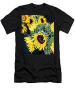 Spring Sunflowers Men's T-Shirt (Athletic Fit)