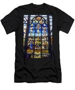 Stained Glass Crucifixion Men's T-Shirt (Athletic Fit)