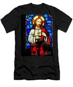 Stained Glass Saviour Men's T-Shirt (Athletic Fit)