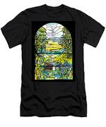 Stained Glass Tiffany Holy City Memorial Window Men's T-Shirt (Athletic Fit)
