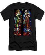 Stained Glass Window At Mont  Le Saint-michel Men's T-Shirt (Athletic Fit)