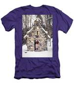 Stone Chapel In The Woods Trapp Family Lodge Stowe Vermont Men's T-Shirt (Athletic Fit)