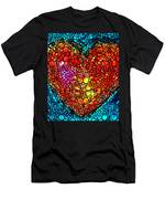Stone Rock'd Heart - Colorful Love From Sharon Cummings Men's T-Shirt (Athletic Fit)