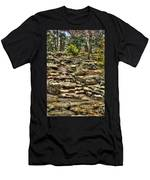 Stone Spring At Woodward Park 1 Men's T-Shirt (Athletic Fit)