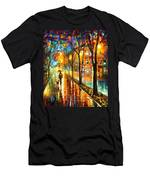 Stroll With My Best Friend - Palette Knife Oil Painting On Canvas By Leonid Afremov Men's T-Shirt (Athletic Fit)