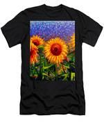 Sunflower Scape Men's T-Shirt (Athletic Fit)