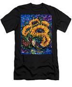 Sunflowers Bouquet In Vase Men's T-Shirt (Athletic Fit)