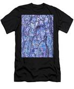 Surreal Patterned Bark In Blue Men's T-Shirt (Athletic Fit)