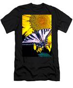 Swallowtail Sunflower Men's T-Shirt (Athletic Fit)