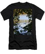 Swan And Ducks Through Trees Men's T-Shirt (Athletic Fit)