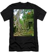 Ta Prohm And Tree Invasion In Angkor Wat Archeologial Park Near Siem Reap-cambodia Men's T-Shirt (Athletic Fit)