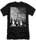 Tennessee Words Sign Men's T-Shirt (Athletic Fit)