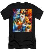 The Cat And The Guitar Men's T-Shirt (Athletic Fit)