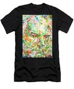 Thomas Bernhard Watercolor Portrait Men's T-Shirt (Athletic Fit)
