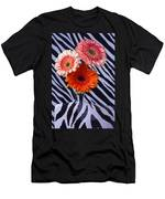 Three Daises In Striped Vase Men's T-Shirt (Athletic Fit)