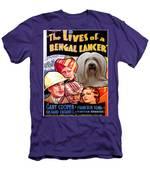 Tibetan Terrier Art - The Lives Of A Bengal Lancer Movie Poster Men's T-Shirt (Athletic Fit)