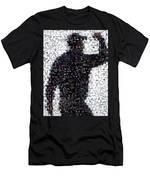 Tiger Woods Fist Pump Mosaic Men's T-Shirt (Athletic Fit)