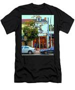 Toronto Stroll Past Fashion Stores Downtown Early Autumn Urban City Scenes Canadian Art C Spandau Men's T-Shirt (Athletic Fit)