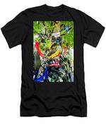Tree Of Shame Near Tail Of Dragon Road In Nc Men's T-Shirt (Athletic Fit)