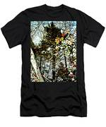 Tree Reflected In Leaves Men's T-Shirt (Athletic Fit)