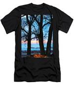 Trees And Sunset Men's T-Shirt (Athletic Fit)