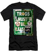 Trogs Must Be Leashed Men's T-Shirt (Athletic Fit)